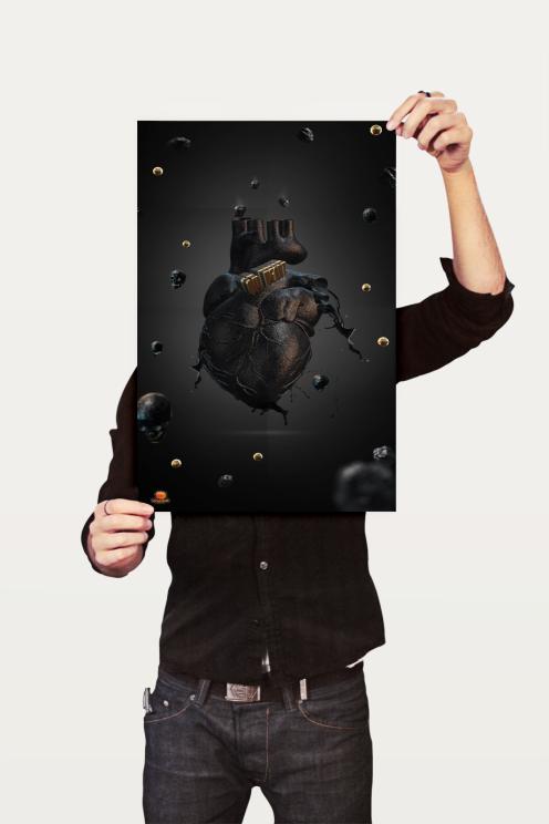 OIL HEART 3D POSTER
