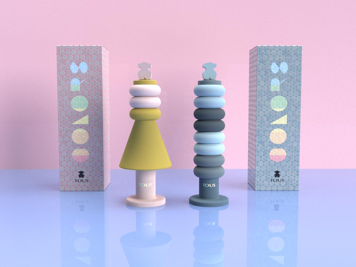 Packaging de perfume para la marca Tous.